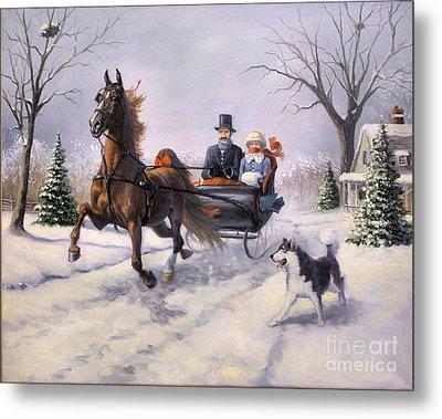 Dashing Through The Snow  II Metal Print by Jeanne Newton Schoborg
