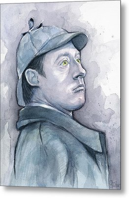Data As Sherlock Holmes Metal Print by Olga Shvartsur