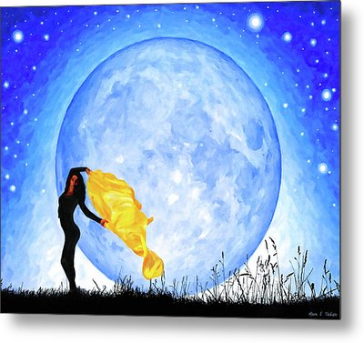 Daughter Of The Moon Metal Print