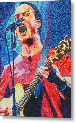 Dave Matthews Squared Metal Print