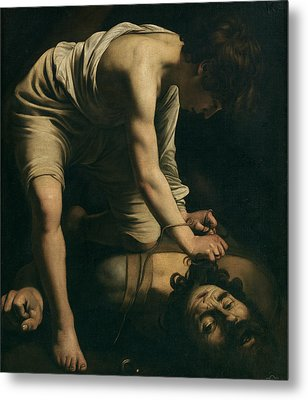 David And Goliath Metal Print by Caravaggio