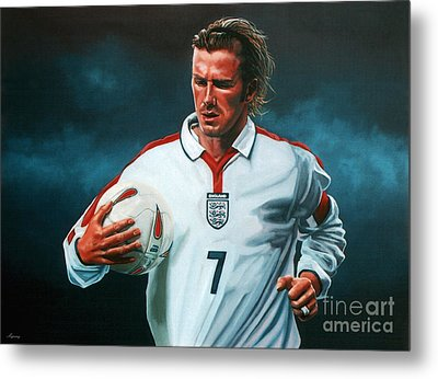 David Beckham Metal Print by Paul Meijering