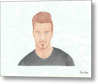 David Beckham Metal Print by Toni Jaso
