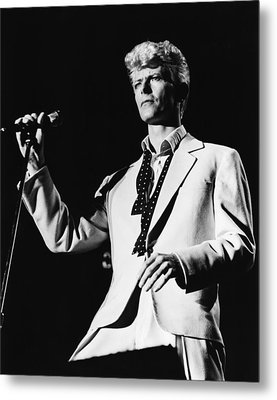 David Bowie 1983 Us Festival Metal Print by Chris Walter