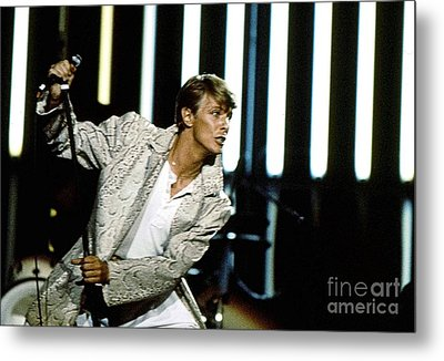 Metal Print featuring the photograph David Bowie Action Man by Sue Halstenberg
