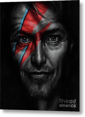 David Bowie Metal Print by Andre Koekemoer