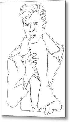 David Bowie Metal Print by Angela Murray