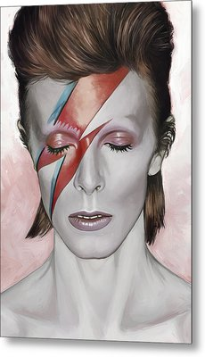David Bowie Artwork 1 Metal Print by Sheraz A