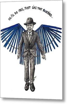 David Bowie Bluebird Metal Print