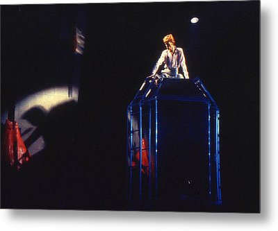 Metal Print featuring the photograph David Bowie Diamond by Sue Halstenberg