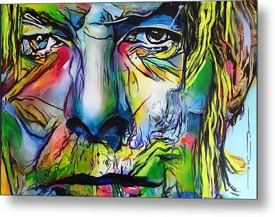 Metal Print featuring the painting David Bowie by Eric Dee