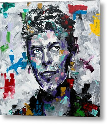 Metal Print featuring the painting David Bowie II by Richard Day