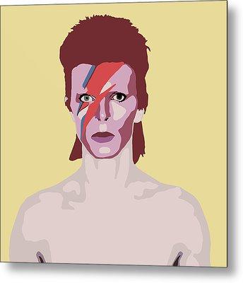 David Bowie Metal Print by Nicole Wilson