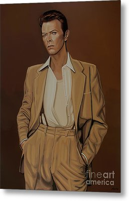 David Bowie Four Ever Metal Print by Paul Meijering