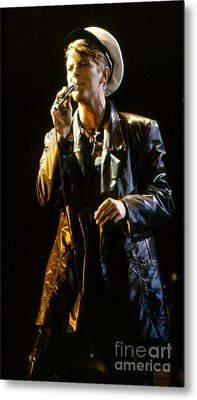 Metal Print featuring the photograph David Bowie Sailor by Sue Halstenberg