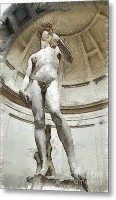 David By Michelangelo Pencil Metal Print by Edward Fielding