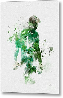 David De Gea Metal Print by Rebecca Jenkins