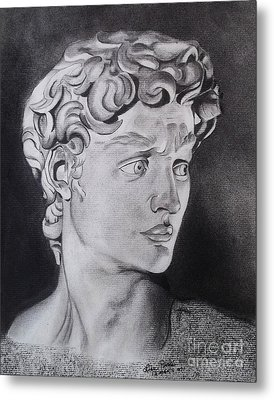 David In Pencil Metal Print by Lise PICHE
