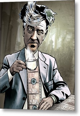 David Lynch - Strange Brew Metal Print by Sam Kirk