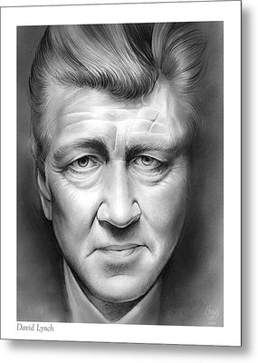 David Lynch Metal Print by Greg Joens