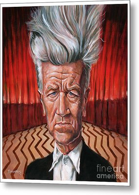 David Lynch Metal Print by Mark Tavares