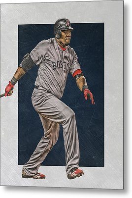 David Ortiz Boston Red Sox Art 2 Metal Print