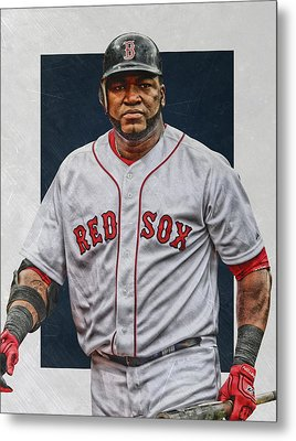 David Ortiz Boston Red Sox Art Metal Print