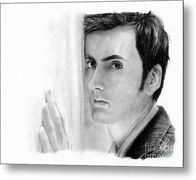 David Tennant 2 Metal Print by Rosalinda Markle
