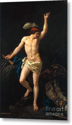 David Victorious Metal Print by Jean Jacques II Lagrenee