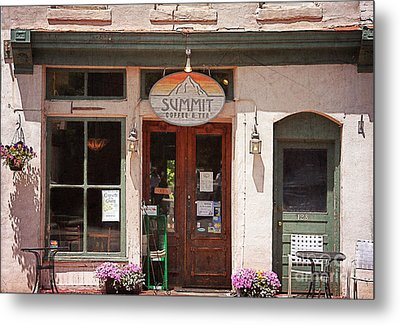 Davidson North Carolina Coffee Shop Metal Print