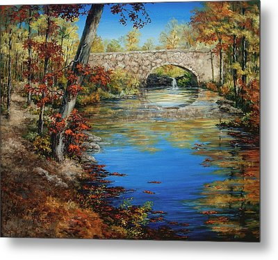 Davies Bridge In November Metal Print