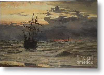 Dawn After The Storm Metal Print by William Lionel Wyllie