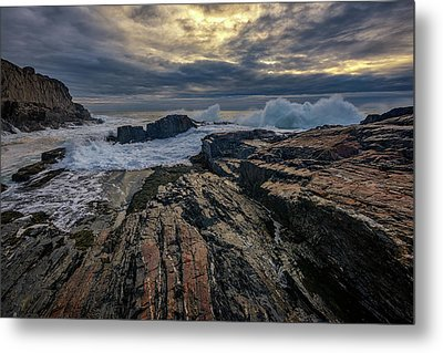 Metal Print featuring the photograph Dawn At Bald Head Cliff by Rick Berk