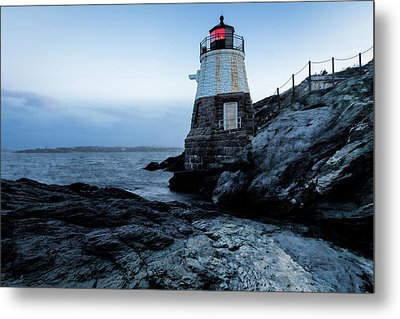 Metal Print featuring the photograph Dawn At Castle Hill Lighthouse by Andrew Pacheco