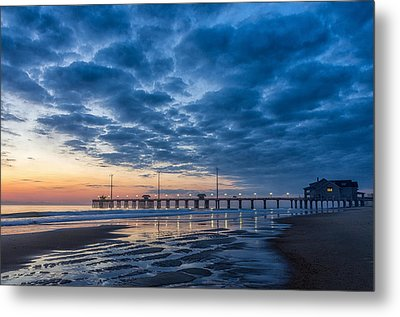 Dawn At Jennete's Pier Metal Print