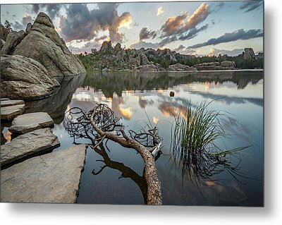 Metal Print featuring the photograph Dawn At Sylvan Lake by Adam Romanowicz