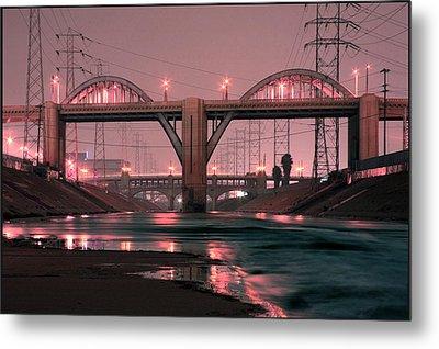 Dawn At The 6th Street Bridge Metal Print by Kevin  Break