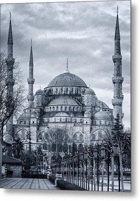 Dawn At The Blue Mosque Metal Print
