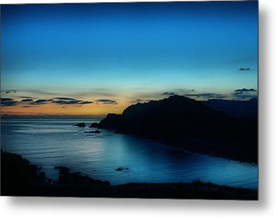 Dawn Blue In Mediterranean Island Of Minorca By Pedro Cardona Metal Print