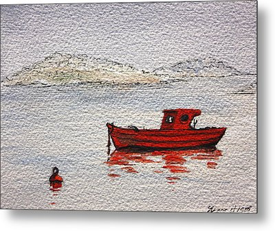 Dawn Fishing Metal Print by Yvonne Ayoub
