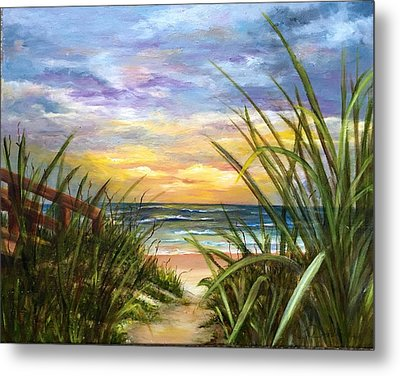 Metal Print featuring the painting Dawn Is Breaking  by Susan Dehlinger