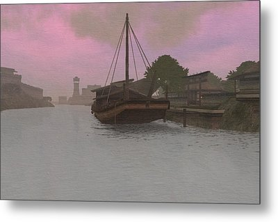 Dawn Low Tide Metal Print by Phil Vooz