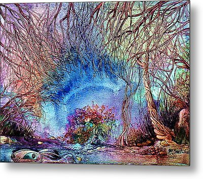 Metal Print featuring the painting Dawn Of A Kid by Mikhail Savchenko