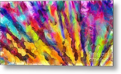 Dawn Of A New Day Abstract Metal Print