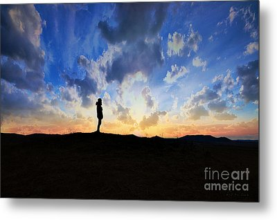 Dawn Of A New Day Sunrise 140a Metal Print by Ricardos Creations