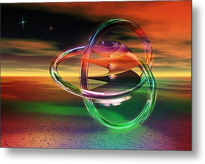 Metal Print featuring the digital art Dawn Of New Creation by Shadowlea Is