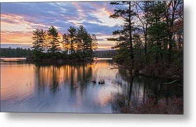 Dawn Serenity At Lake Tiorati Metal Print