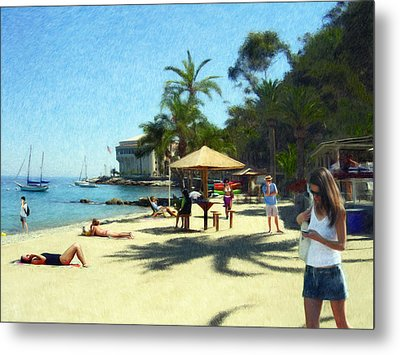 Day At The Beach Metal Print by Snake Jagger