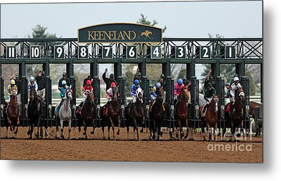 Keeneland Race Day Metal Print by Angela G