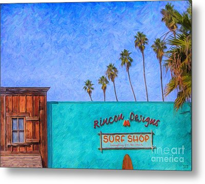 Day At The Surf Shop Metal Print